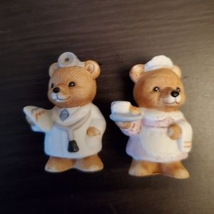 Home Interiors Accents - Career Bear Figurines
